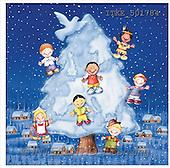 Isabella, CHRISTMAS CHILDREN, naive, paintings(ITKE501784,#XK#) Weihnachten, Navidad, illustrations, pinturas