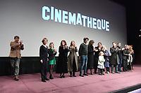Nathalie BAYE rejoint l'equipe du film sur scene - Avant-Premiere du film LES GARDIENNES de Xavier Beauvois - La Cinematheque francaise - 1 decembre 2017 - Paris - France # AVANT-PREMIERE 'LES GARDIENNES' A PARIS