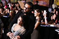 """WESTWOOD, LOS ANGELES, CA, USA - MARCH 18: Lisa Bonet, Jason Momoa at the World Premiere Of Summit Entertainment's """"Divergent"""" held at the Regency Bruin Theatre on March 18, 2014 in Westwood, Los Angeles, California, United States. (Photo by Xavier Collin/Celebrity Monitor)"""