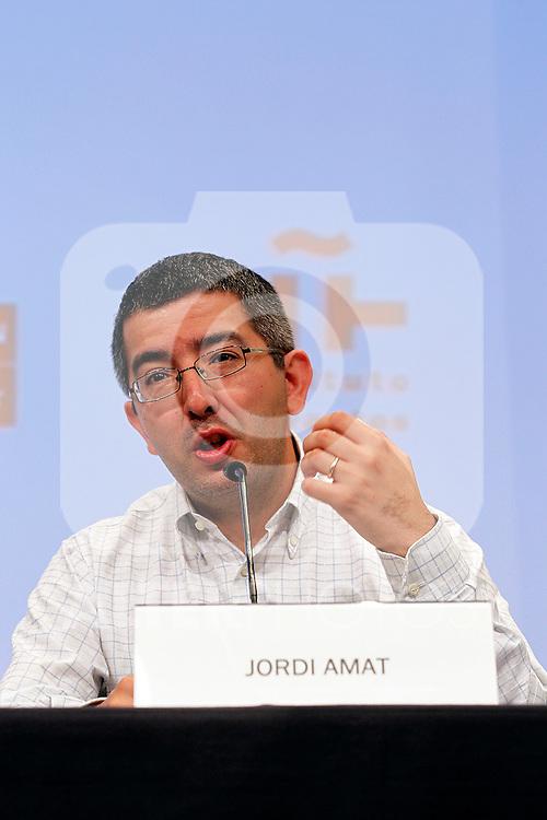Writer Jordi Amat in the Essential Notebooks´s release of Santander Bank Fundation at Instiuto de Cervantes.Madrid 26 june 2012.(ALTERPHOTOS/ARNEDO)