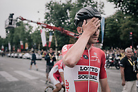 the surprise debut rider of this Tour: Tiesj Benoot (BEL/Lotto-Soudal) who finishes 20th overall in his very first Grand Tour; a huge result for a rider who's mainly considered a typical classics rider...<br /> <br /> 104th Tour de France 2017<br /> Stage 21 - Montgeron › Paris (105km)