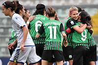 Kamila Dubcova of Sassuolo celebrates with team mates after scoring the goal of 1-0 during the women Serie A football match between US Sassuolo and Hellas Verona at Enzo Ricci stadium in Sassuolo (Italy), November 15th, 2020. Photo Andrea Staccioli / Insidefoto