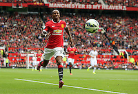 Pictured: Ashley Young of Manchester United. Saturday 16 August 2014<br /> Re: Premier League Manchester United v Swansea City FC at the Old Trafford, Manchester, UK.