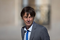 French Minister of the Ecological and Social Transition Nicolas Hulot arrives to the Elysee presidential palace for the weekly cabinet meeting on Wednesday, 28 June 2017 in Paris # CONSEIL DES MINISTRES DU 28/06/2017