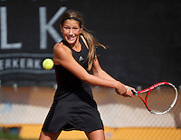 August 9, 2014, Netherlands, Rotterdam, TV Victoria, Tennis, National Junior Championships, NJK,  Kim Hansen (NED)<br /> Photo: Tennisimages/Henk Koster