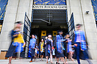 May 23, 2021; Graduates exit Notre Dame Stadium following the College of Arts & Letters diploma ceremony, Commencement 2021. (Photo by Matt Cashore/University of Notre Dame)
