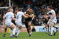 Photo: Tony Oudot/Richard Lane Photography. London Wasps v Newcastle Falcons. Aviva Premiership. 05/05/2012. .Billy Vunipola attacks for Wasps.