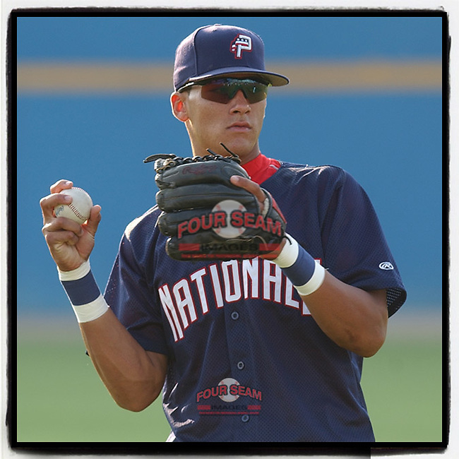 #OTD On This Day, July 20, 2005, Ian Desmond of the Potomac Nationals, Class A Carolina League affiliate of the Washington Nationals, played in a game against the Salem Avalanche at Pfitzner Stadium, Woodbridge, Va. Since then, Desmond has played 11 years in the majors, with Washington, Texas and Colorado. He has chosen to opt out of the 2020 season. (Tom Priddy/Four Seam Images) #MiLB #OnThisDay #MissingBaseball #nobaseball #stayathome #minorleagues #minorleaguebaseball #Baseball #CarolinaLeague #AloneTogether