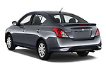 Car pictures of rear three quarter view of 2019 Nissan Versa-Sedan SV 4 Door Sedan Angular Rear