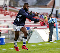 21st August 2020; Kingsholm Stadium, Gloucester, Gloucestershire, England; English Premiership Rugby, Gloucester versus Bristol Bears; Semi Radradra of Bristol warms-up prior to the match