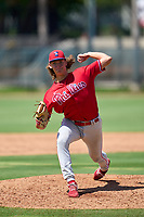 Philadelphia Phillies pitcher Jake McKenna (48) during an Extended Spring Training game against the Toronto Blue Jays on June 12, 2021 at the Carpenter Complex in Clearwater, Florida. (Mike Janes/Four Seam Images)