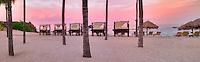 Beach chairs and sunrise. Four Seasons, Punta Mita, Mexico