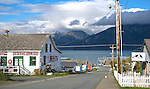 Street leading to dock in Haines.