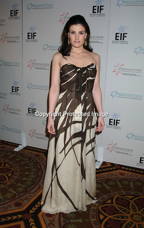Idina Menzel ..at The Entertainment Industry Foundation National Colorectal Cancer Research Alliance and The Jay Monahan Center for Gastrointestinal Health Hollywood Meets Motown Benefit on March 15, 2006 at The Waldorf Astoria Hotel. ..Robin Platzer, Twin Images