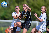 Texas State forward Kira Zapalac (23) and Appalachian State midfielder Jenni Loveless (3) fight for the ball during first haf of an NCAA soccer game, Sunday, October 05, 2014 in San Marcos, Tex. Texas State leads 1-0 at the halftime. (Mo Khursheed/TFV Media via AP Images)
