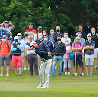 2nd July 2021; Mount Juliet Golf Club, Kilkenny, Ireland; Dubai Duty Free Irish Open Golf, Day Two; Rory Mcilroy of Northern Ireland takes his third shot on the 10th hole