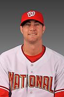 14 March 2008: ..Portrait of Justin Phillabaum, Washington Nationals Minor League player at Spring Training Camp 2008..Mandatory Photo Credit: Ed Wolfstein Photo