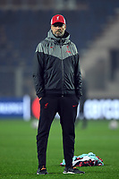 3rd November 2020; Bergamo, Lombardy, Italy. UEFA Champions League football, group stages, Atalanta versus Liverpool FC;  Jurgen Klopp manager of Liverpool watches from the sideline