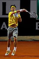 L'italiano Fabio Fognini in azione durante gli Internazionali d'Italia di tennis a Roma, 15 Maggio 2013..Italy's Fabio Fognini in action during the Italian Open Tennis tournament ATP Master 1000 in Rome, 15 May 2013.UPDATE IMAGES PRESS/Isabella Bonotto