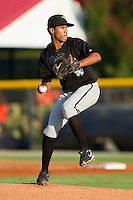 Starting pitcher Darwin Matos #10 of the Bristol White Sox in action against the Burlington Royals at Burlington Athletic Park on July 9, 2011 in Burlington, North Carolina.  The Royals defeated the White Sox 3-2.   (Brian Westerholt / Four Seam Images)