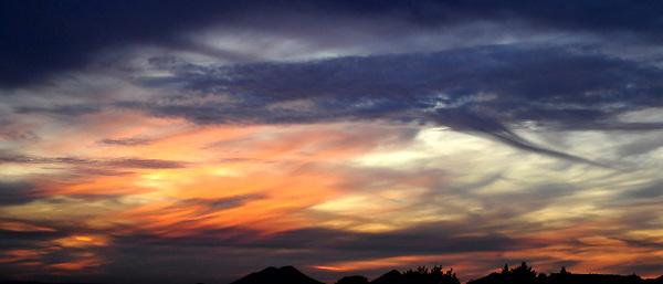Blended color at dusk