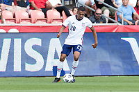 SANDY, UT - JUNE 10: Reggie Cannon #20 of the United States moves with the ball during a game between Costa Rica and USMNT at Rio Tinto Stadium on June 10, 2021 in Sandy, Utah.