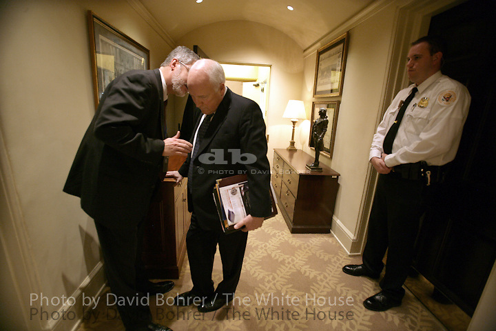 VP Cheney: whispers in the West Wing hallway with David Addington.