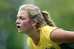 GER - Mannheim, Germany, May 24: During the U16 Girls match between Australia (green) and Germany (white) during the international witsun tournament on May 24, 2015 at Mannheimer HC in Mannheim, Germany. Final score 0-6 (0-3). (Photo by Dirk Markgraf / www.265-images.com) *** Local caption *** Matilda Nelson #3 of Australia