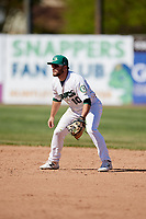 Beloit Snappers second baseman Nate Mondou (10) during a game against the Bowling Green Hot Rods on May 7, 2017 at Pohlman Field in Beloit, Wisconsin.  Bowling Green defeated Beloit 6-2.  (Mike Janes/Four Seam Images)