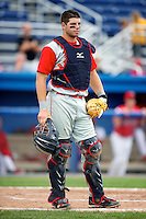Brooklyn Cyclones catcher Kevin Plawecki #26 during a game against the Batavia Muckdogs at Dwyer Stadium on July 26, 2012 in Batavia, New York.  Brooklyn defeated Batavia 7-1.  (Mike Janes/Four Seam Images)
