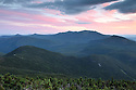 The sun sets over the sweeping expanse of the Pemigewasset Wilderness.