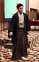 Kabuki actor Matsumoto Koushiro holds a press conference