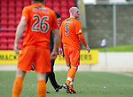 St Johnstone v Dundee United...11.02.12.. SPL.Garry Kenneth goes off injured.Picture by Graeme Hart..Copyright Perthshire Picture Agency.Tel: 01738 623350  Mobile: 07990 594431