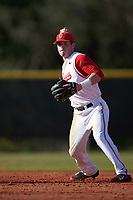 Ohio State Buckeyes shortstop Craig Nennig (7) during a game against the Illinois State Redbirds on March 5, 2016 at North Charlotte Regional Park in Port Charlotte, Florida.  Illinois State defeated Ohio State 5-4.  (Mike Janes/Four Seam Images)