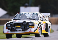 9th July 2021;  Goodwood  House, Chichester, England; Goodwood Festival of Speed; Day Two; David Kedward drives the Audi Sport Quattro S1 E2 in the Goodwood Hill Climb