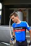 David Zabriskie (USA) Garmin-Sharp at sign on before the start of Stage 2 of the 99th edition of the Tour de France 2012, running 207.5km from Vise to Tournai, Belgium. 2nd July 2012.<br /> (Photo by Eoin Clarke/NEWSFILE)