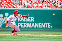 9 July 2017: Washington Nationals infielder Wilmer Difo in action against the Atlanta Braves at Nationals Park in Washington, DC. The Nationals defeated the Atlanta Braves to split their 4-game series. Mandatory Credit: Ed Wolfstein Photo *** RAW (NEF) Image File Available ***