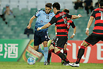 SYDNEY - APRIL 05:  Milos Ninkovic of Sydney FC scores a goal during the AFC Champions League group H match between Sydney FC and Pohang Steelers on 05 April 2016 held at Sydney Football Stadium in Sydney, Australia. Photo by Mark Metcalfe / Power Sport Images   *** Local Caption *** Milos Ninkovic