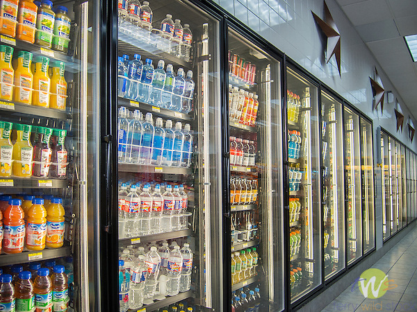 Buc-ee's Convenience Store. Beverage coolers.