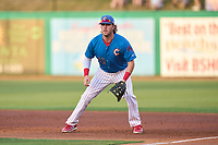 Clearwater Threshers first baseman Rixon Wingrove (52) during a game against the Dunedin Blue Jays on May 18, 2021 at BayCare Ballpark in Clearwater, Florida.  (Mike Janes/Four Seam Images)