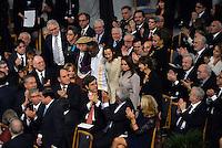 OSLO -NORUEGA-10-12-2016  Juan Manuel Santos, presidente de Colombia, rinde homenaje a victimas de la guerra, durante la ceremonia de entrega del Premio Nobel de Paz 2016 que obtuvo por su trabajo en pro de la paz en Colombia. El premio fue entregado hoy 10 de diciembre de 2016 en el  Town Hall de Oslo Noruega./ Juan Manuel Santos, president of Colombia, gives a tribute to the war victims, during the ceremony of Nobel Peace Prize 2016. The prize was give to the santos president today December 10 2016 at Oslo Town Hall , Oslo, Norway. / Photo: VizzorImage / Cesar Carrion / SIG. / HANDOUT PICTURE; MANDATORY EDITORIAL USE ONLY/ NO MARKETING, NO SALES