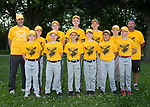 May 30, 2017- Tuscola, IL- The 2017 Tuscola Moose baseball team. Those present back row from left are coach Curt VonLanken, Nate Thomason, Dylan Homann, John Hegarty, Thomas Brown, Robert Fancher, and coach Paul Snow. Front row from left are Jayden Gaines, Cole McCallister, David Hornaday, Ethan Schau, Brody Thomas, and Ty Thomason. [Photo: Douglas Cottle]