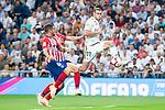 Real Madrid Gareth Bale and Atletico de Madrid Koke Resurreccion during La Liga match between Real Madrid and Atletico de Madrid at Santiago Bernabeu Stadium in Madrid, Spain. September 29, 2018. (ALTERPHOTOS/Borja B.Hojas)
