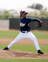 Wilton Lopez - San Diego Padres - 2009 spring training.Photo by:  Bill Mitchell/Four Seam Images