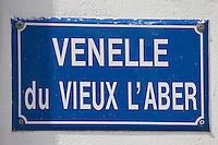 Europe/France/Bretagne/29/Finistère/Lanildut: Plaque de rue: Venelle du Vieux L'aber