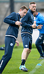 St Johnstone training…25.08.17<br />New signing Denny Johnstone pictured training with Steven MacLean at McDiarmid Park this morning ahead of tomorrows game at Celtic.<br />Picture by Graeme Hart.<br />Copyright Perthshire Picture Agency<br />Tel: 01738 623350  Mobile: 07990 594431