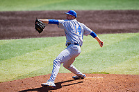 Florida Gators relief pitcher Christian Scott (14) delivers a pitch to the plate against the Tennessee Volunteers on Robert M. Lindsay Field at Lindsey Nelson Stadium on April 11, 2021, in Knoxville, Tennessee. (Danny Parker/Four Seam Images)