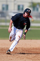 Minnesota Twins minor league catcher Chris Herrmann during a game vs. the Boston Red Sox in an Instructional League game at Lee County Sports Complex in Fort Myers, Florida;  October 1, 2010.  Photo By Mike Janes/Four Seam Images