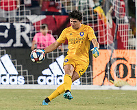 FOXBOROUGH, MA - JULY 28: Brian Rowe #23 during a game between Orlando City SC and New England Revolution at Gillette Stadium on July 27, 2019 in Foxborough, Massachusetts.