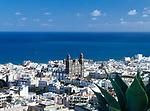 Spanien, Kanarische Inseln, Gran Canaria, Las Palmas: Blick ueber die Altstadt Vegueta mit Kathedrale | Spain, Canary Island, Gran Canaria, Las Palmas: view across old town Vegueta with cathedral